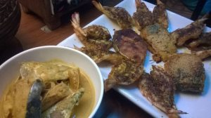 mix fish and curry